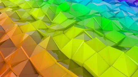 three-dimensional plane of iridescent color. 3d render Banco de Imagens - 123004228