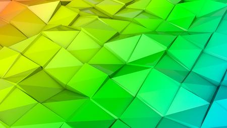 three-dimensional plane of iridescent color. 3d render Banco de Imagens - 123004230