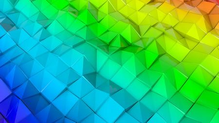 three-dimensional plane of iridescent color. 3d render Banco de Imagens - 123004080