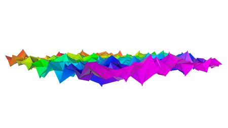 three-dimensional plane of iridescent color. 3d render