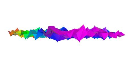 three-dimensional plane of iridescent color. 3d render Banco de Imagens - 123004088