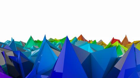 three-dimensional plane of iridescent color. 3d render Banco de Imagens - 123004096