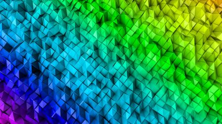three-dimensional plane of iridescent color. 3d render Banco de Imagens - 123004101