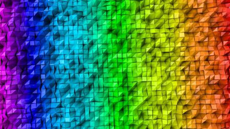 three-dimensional plane of iridescent color. 3d render Banco de Imagens - 123004103