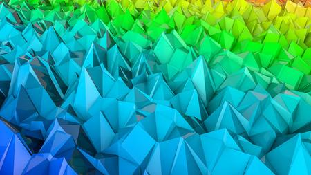 three-dimensional plane of iridescent color. 3d render Banco de Imagens - 123004109