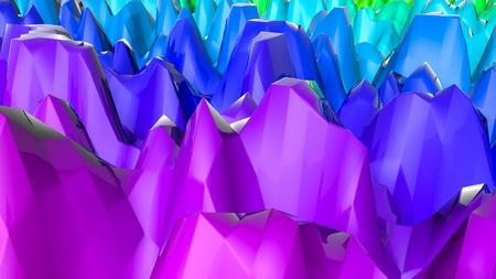 three-dimensional plane of iridescent color. 3d render Banco de Imagens - 123004015