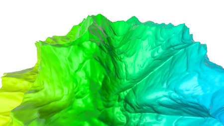 three-dimensional plane of iridescent color. 3d render Banco de Imagens - 123004017