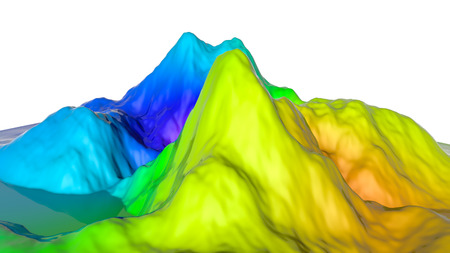 three-dimensional plane of iridescent color. 3d render Banco de Imagens - 123004023