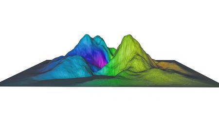 three-dimensional plane of iridescent color. 3d render Banco de Imagens - 123004025