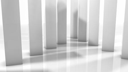 rectangular three-dimensional columns. abstract illustration. 3d render