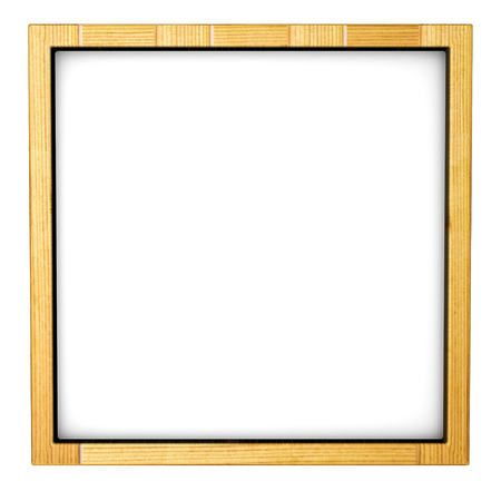 Wooden frame Three-dimensional. 3d render