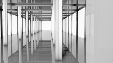 abstract geometric floors and shapes. illustration. 3d render 写真素材