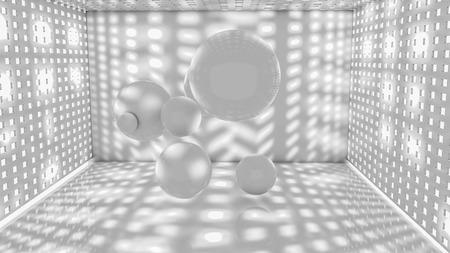 Sphere on a light gray. Three-dimensional illustration. 3d render