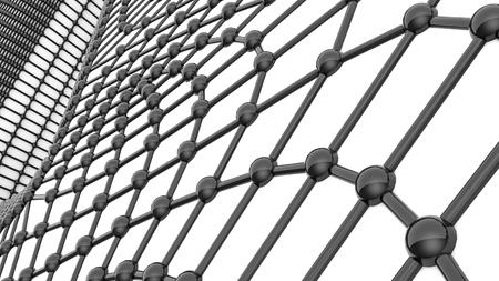 background of black three-dimensional spheres. illustration. 3d render