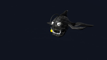 3d model of angler fish. 3d render Stock Photo - 126424464