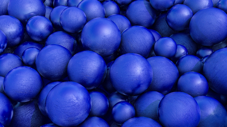 Abstract three-dimensional background of blue spheres with texture. 3d render