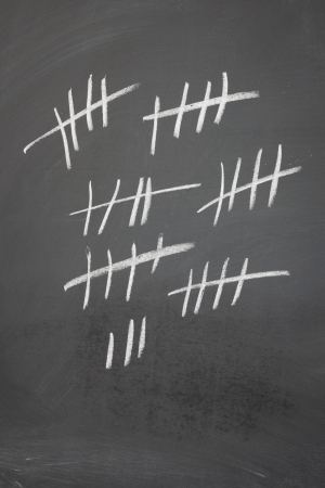 Counting on a blackboard with five bar gates