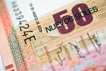 Peruvian paper notes, Nuevos Soles currency from Peru  photo