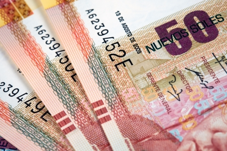Peruvian paper notes, Nuevos Soles currency from Peru