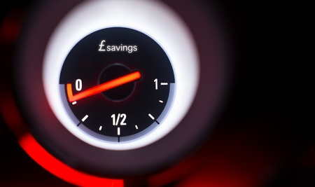 Savings fuel gauge at empty  photo