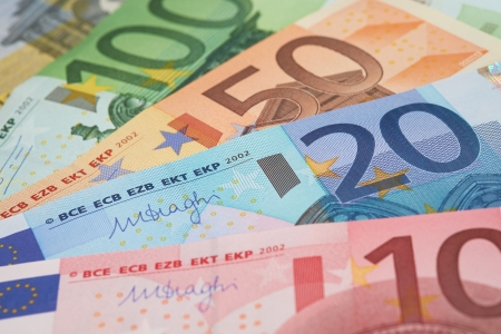 European Bank notes, Euro  currency from Europe, Euros