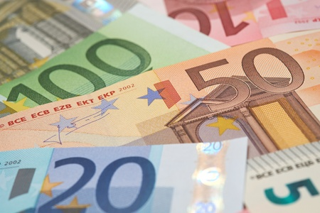 euro: European Bank notes, Euro  currency from Europe, Euros