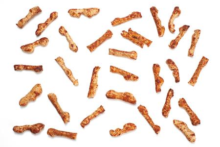 savoury: A Selection of savoury party snacks on a white background. Фото со стока