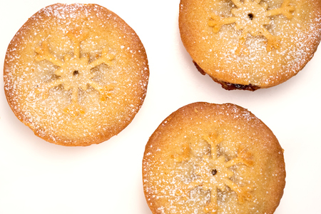 Sweet Christmas mince pies on a white background  photo