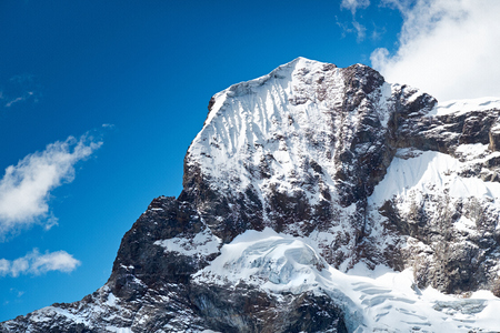 fluting: Nev Churup Summit, Huascaran National Park in the Andes, South America.