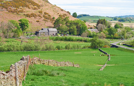 lake district: Mosedale Farmhouse in the English Lake District, UK. Editorial
