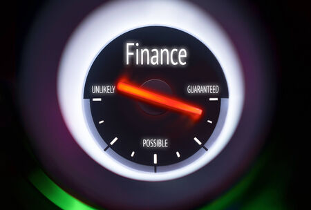 Finance concept displayed on a gauge photo