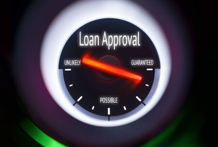 Loan Approval concept displayed on a gauge photo