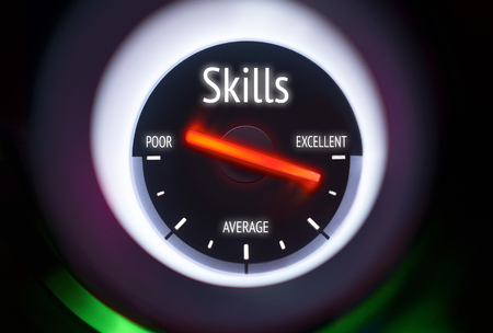 interpersonal: Skills concept displayed on a gauge