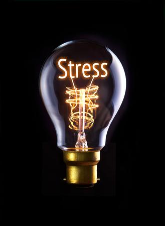 Stress concept in a filament lightbulb. photo
