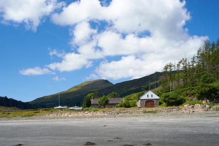 croft: A Croft at Loch Gleann Bharcasaig, shore of Loch Bharcasaig, Orbost near Dunvegan on the Isle of Skye.