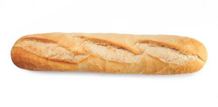 crust crusty: Fresh bread isolated on a white background Stock Photo