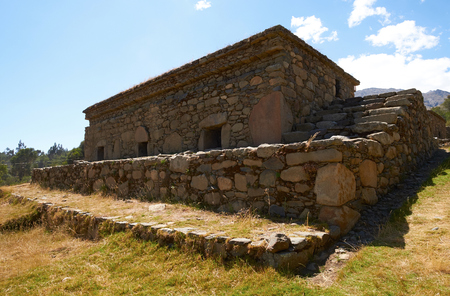 places of worship: Funeral ceremonial buildings, Chullpas, places to worship the dead at Willkawain near Huaraz.