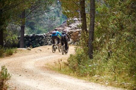off road biking: Mountain biking in the Peruvian Andes, South America