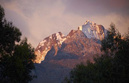 blanca: Nev Churup, Cordillera Blanca In Peru, South America. Stock Photo