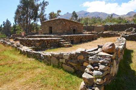 ceremonial: Funeral ceremonial buildings, Chullpas, places to worship the dead at Willkawain near Huaraz.