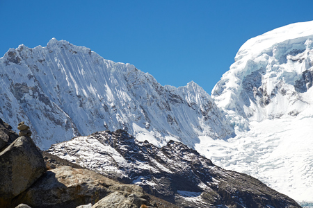 fluting: Snow fluting on the side of Ocshapalca Summit (5888m) in the Peruvian Andes.