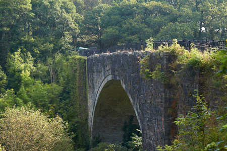 surviving: Cause Arch, the worlds oldest surviving rail bridge. North East England, UK. Stock Photo