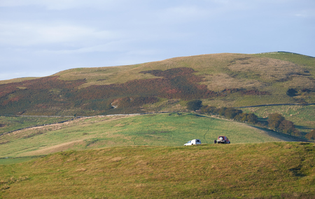 Landowners and 4x4, off road transport in the English Countryside.