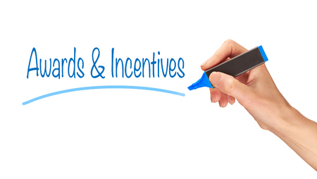 incentives: Awards & Incentives written, Induction Training headlines concept.