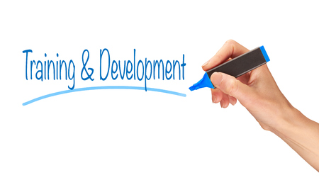 Training & Development written, Induction Training headlines concept.