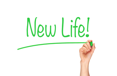 induction: New Life written, Induction Training headlines concept.