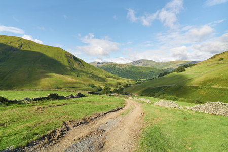 gill: Looking down Hayeswater Gill towards Hartsop in the English Lake District, UK.