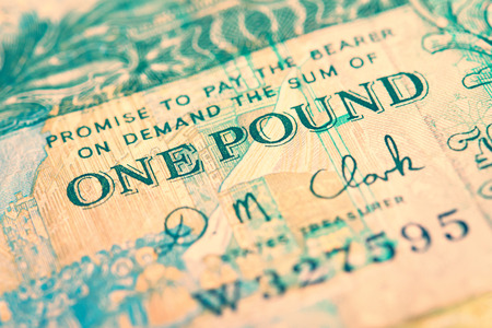 One pound note from the Island of Jersey. The image has added grain and styling.