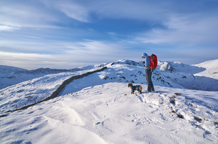 lake district: Looking towards  in the English Lake District. Stock Photo