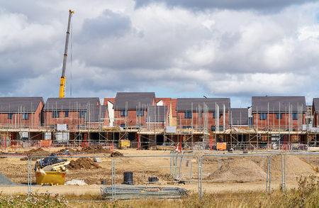 Neu Häuser in einer Wohnsiedlung in England gebaut.